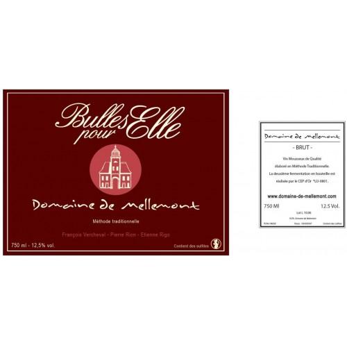 Mousseux - Bulles pour elle 75 cl (Domaine de Mellemont)