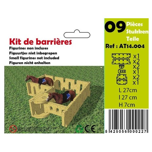 Kit barrieres (5 pces) (6 +) Ardennes Toys
