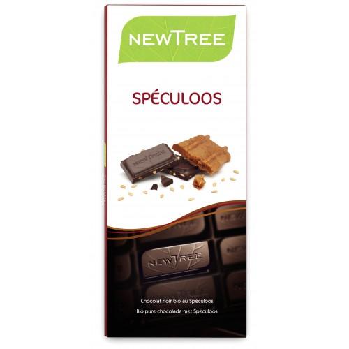 Chocolat noir 72% de cacao au speculoos 80 g NewTree