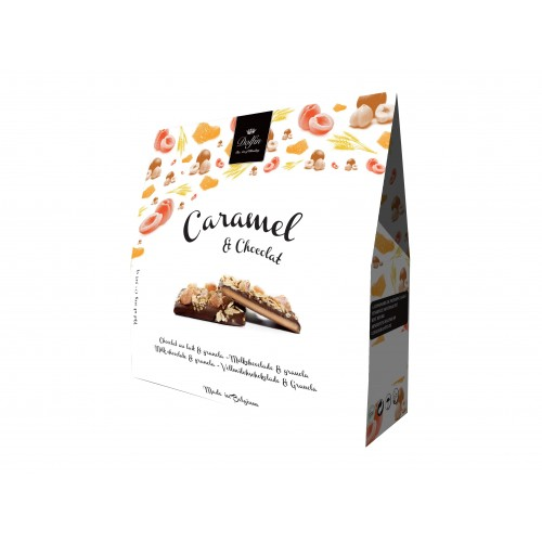 Caramel, chocolat au lait et granola 200 g (Dolfin)