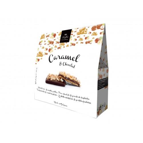 Caramel, chocolat noir et noisettes grillées 200 g (Dolfin)