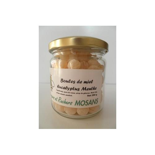 Boules de miel à l'eucalyptus et menthe (Mosans)