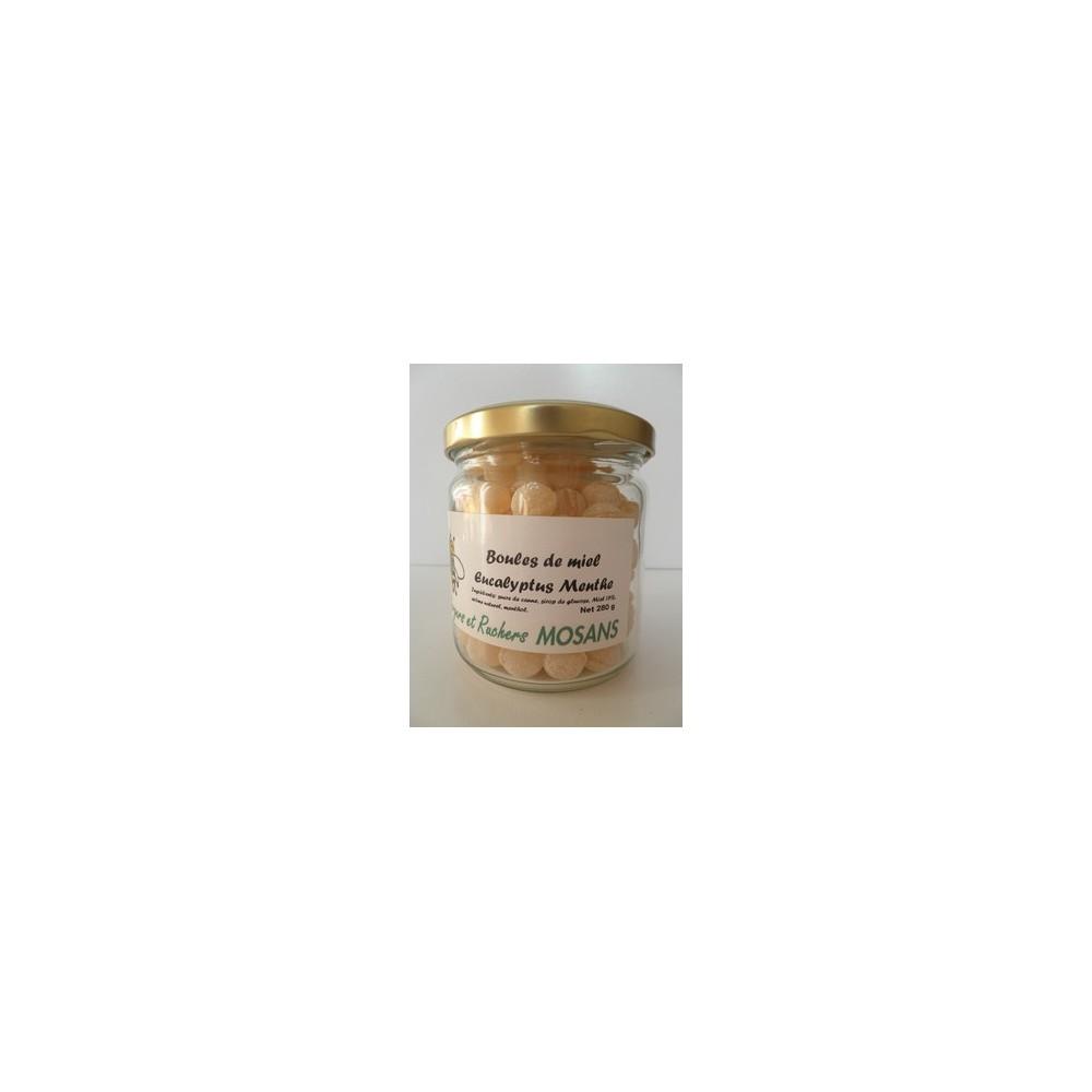 Boules de miel à l'eucalyptus et menthe
