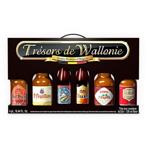 Coffret 6 bouteilles bières spéciales de Wallonie
