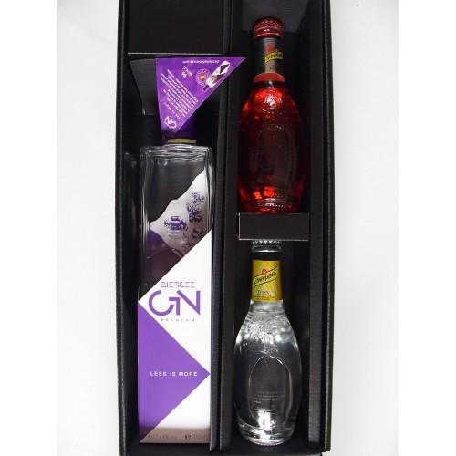 Koffer Gin Less is More 70 cl + 2 Schweppes Tonic 20 cl (Distillerie de Biercée)
