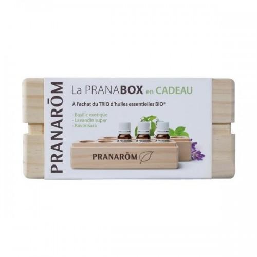 Pranabox avec trio d'huiles essentielles bio (Pranarôm)