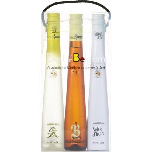 Coffret Best of Belgium : Eau de Villée, B de Biercée, Noir d'Ivoir (Distillerie de Biercée )