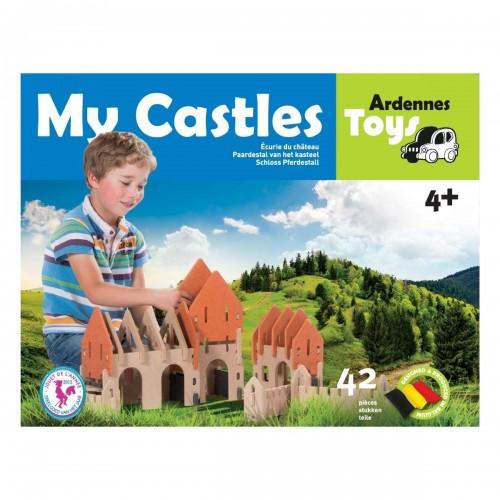 Paardestal van het kasteel (+ 4) Ardennes Toys