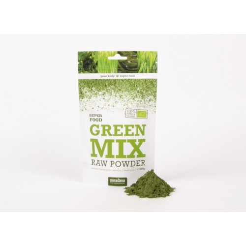 Green Mix powder bio 200 g  (Purasana)