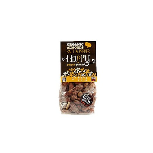 Amandelen bio zout & peper 100 g (Happy People Planet)