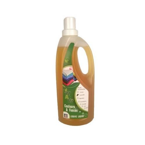 Lessive liquide couleurs & foncés  lavande 1 L (Wallo-wash)