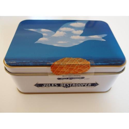 Box met natuurboterwafels - Vogels Magritte 75 g(Destrooper)
