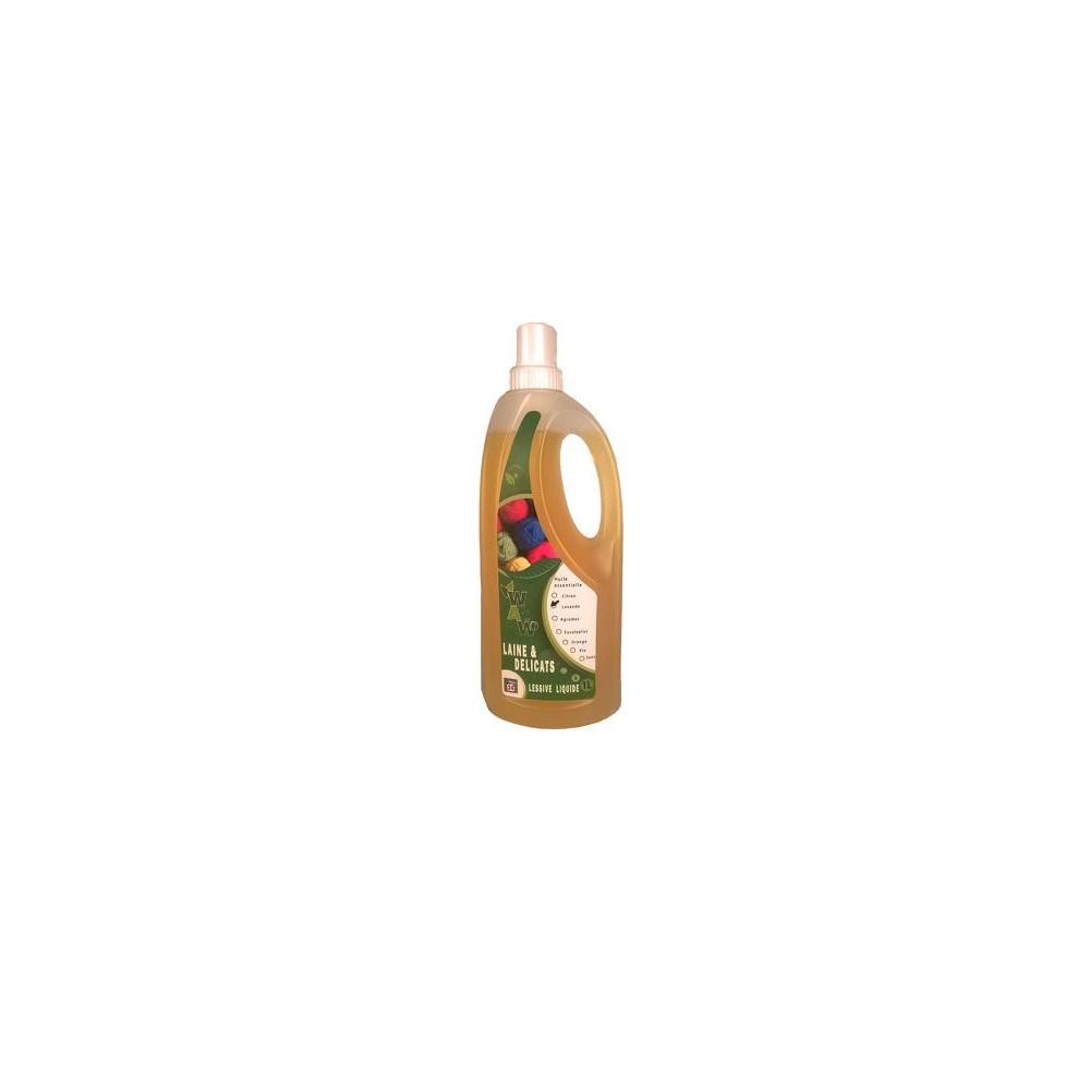 wol en fijnwasmiddel met essentiële olie met lavandel 1 L (Wallowash)