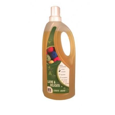 Lessive liquide laine ete délicat lavande 1 L (Wallo-wash)