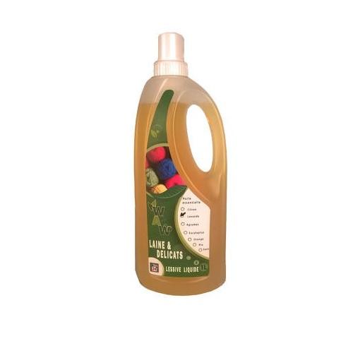 Wol en fijnwasmiddel met essentiële olie citrus 1 L (Wallowash)