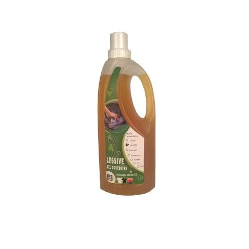 Vloeibaar wasmiddel kleur & dark met essentiële olie met citrus1 L (Wallowash)