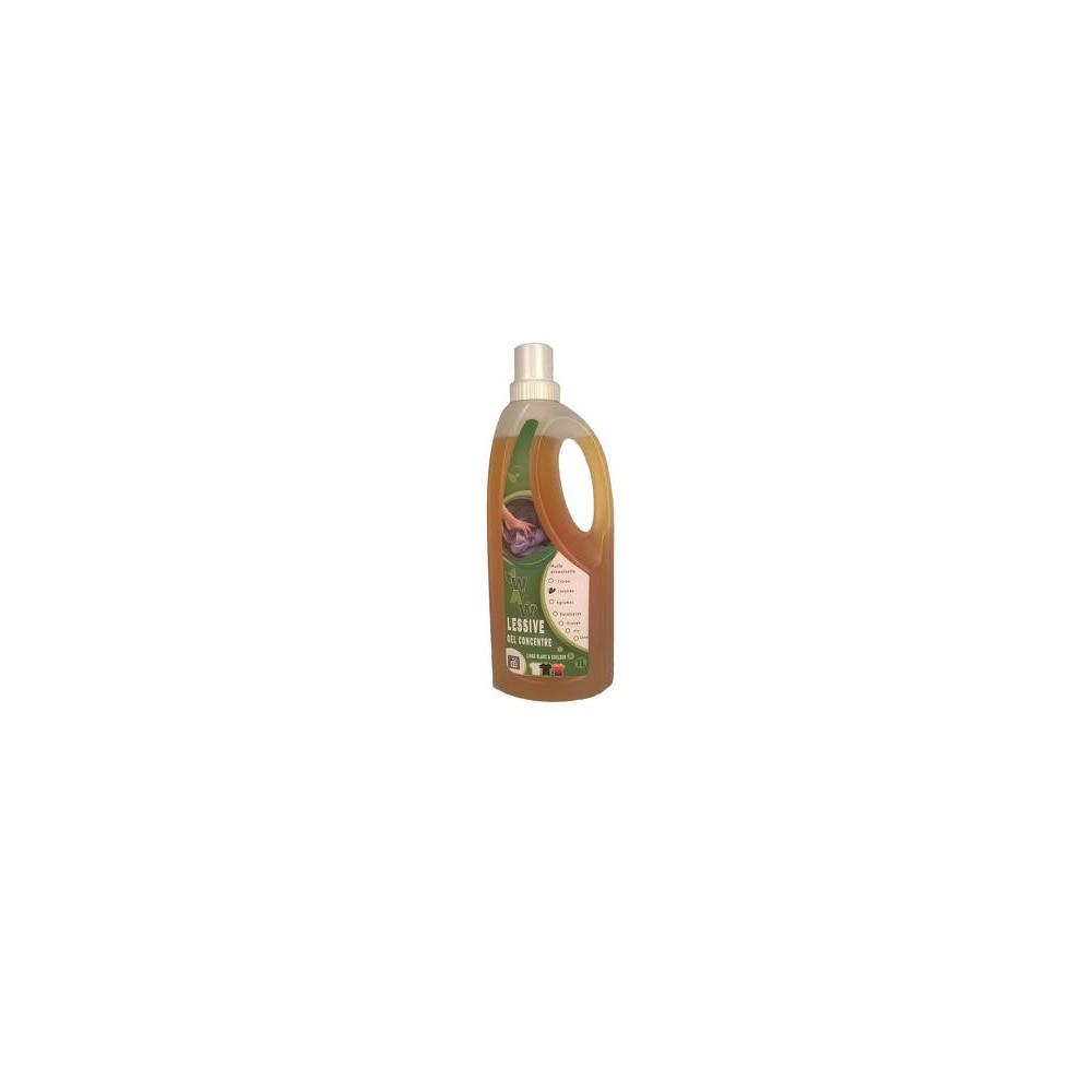Lessive gel concentré blanc-couleur lavande 1 L (Wallo-wash)