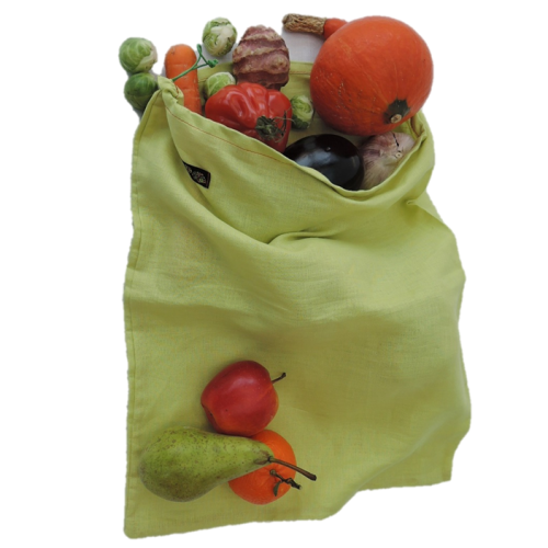 Sac à fruits et légumes en lin L (Bag to green)