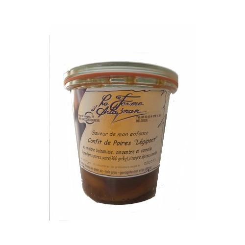 Confit de poires  au vinaigre balsamique, gingembre et cannelle