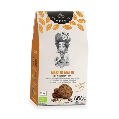 Biscuits petit déjeuner à l'avoine et chocolat bio 150 g (Generous)