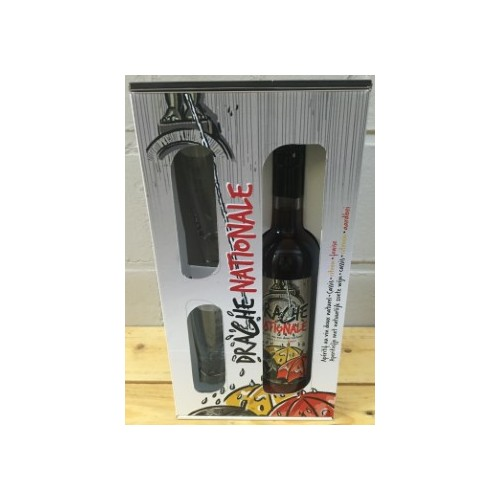 Coffret Drache nationale 70 cl  + 2 verres  (Distillerie Gervin)