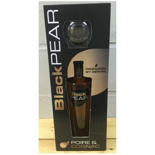 Coffret Black pear 70 cl + 1 verre (Distillerie Gervin)