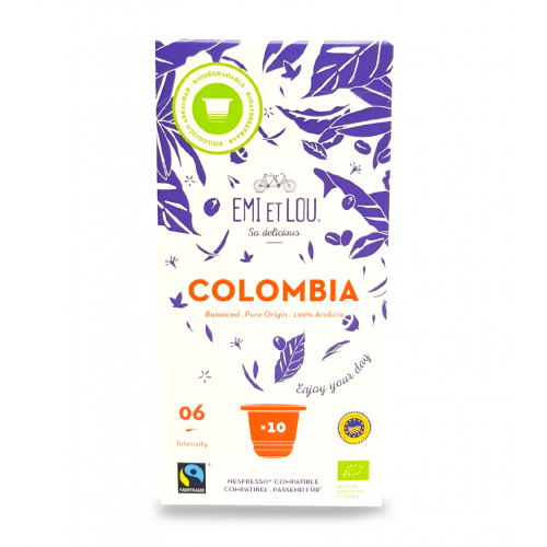 Arabica Colombia caps bio & faitrade (Emi et Lou)