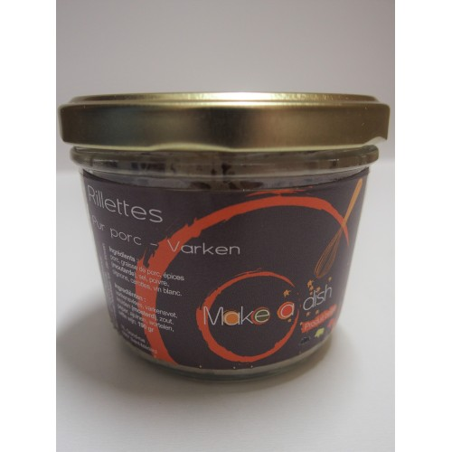 Rillettes de porc 190 g (Make a dish)