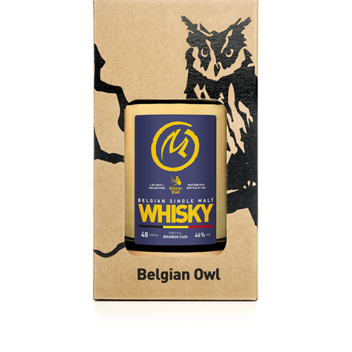 Whisky Belgian Single Malt 5 jaar - 50 cl (The Owl Distillery)