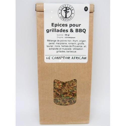 Epices pour grillades et BBQ  50 g (Comptoir africain)