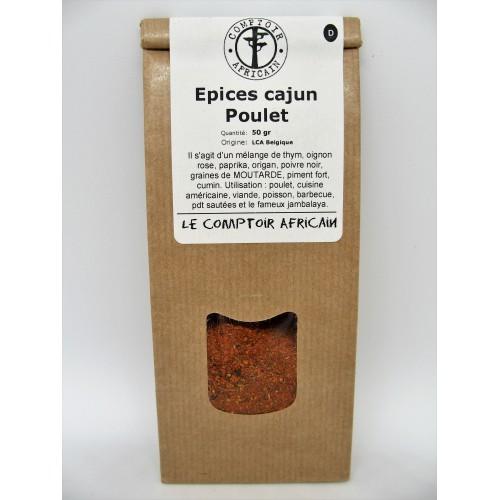 Epices cajun poulet 50 g (Comptoir africain)