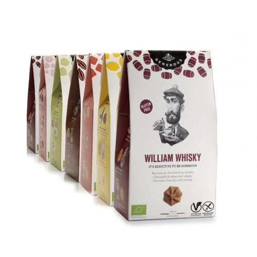Biscuit au chocolat saveur whisky bio, sans gluten & vegan 120 g (Generous)