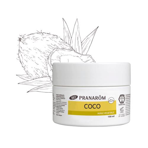 Huile végétale de coco bio 100 ml (Pranarôm)