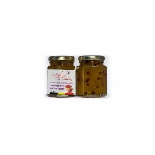 Confit au safran pour foie gras 40 g  (Safran de Cotchia)