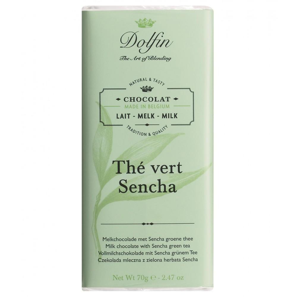 Chocolat au lait au thé vert Sensha 70 g (Dolfin)