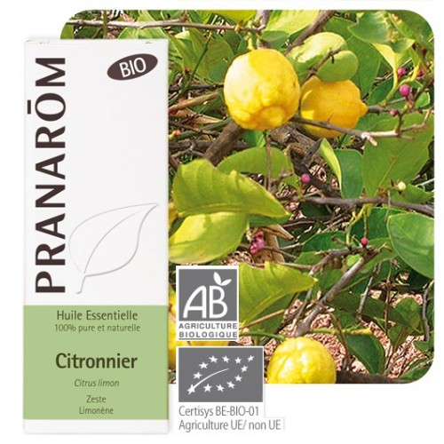 Essentiële olie citroen bio 10 ml (Pranarôm)