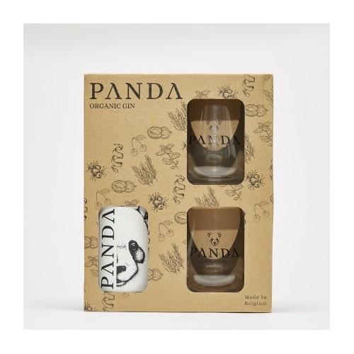 Coffret Gin Panda 50 cl + 2 verres