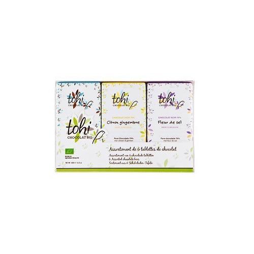 Coffret 6 tablettes de chocolat pur  BIO (Dolfin)