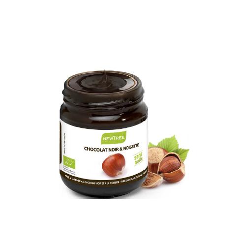 Pâte à tartiner bio au chocolat noir et noisettes 250 g (NewTree)