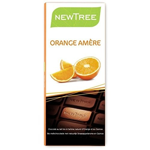 Chocolat au lait orange et quinoa bio 80 g (NewTree)