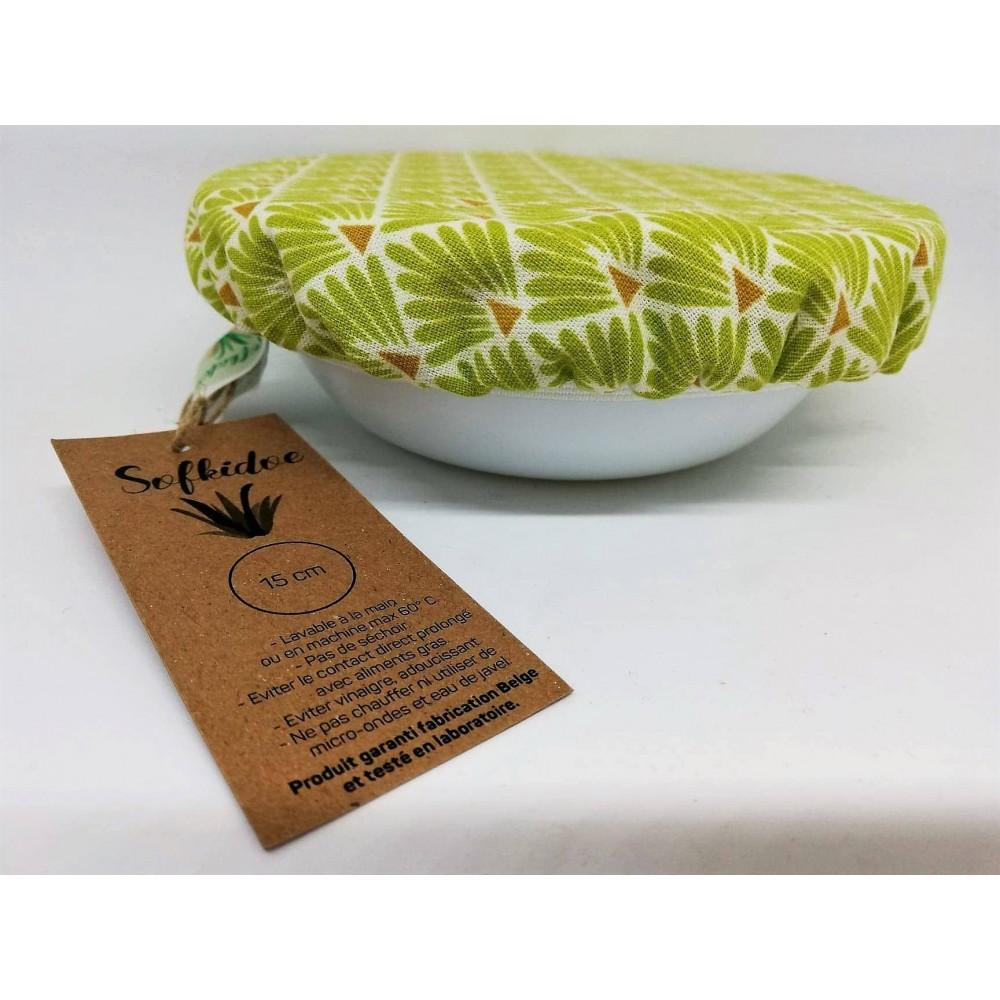 Deksel groene schubben 15 cm (Sofkidoe)