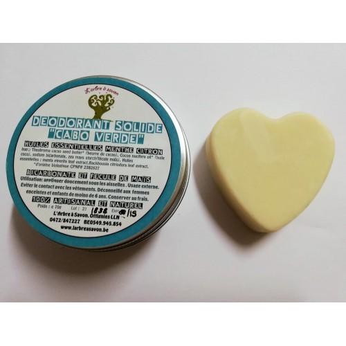 Solid deodorant met menthol en limon 70 g (l'arbre à savon)