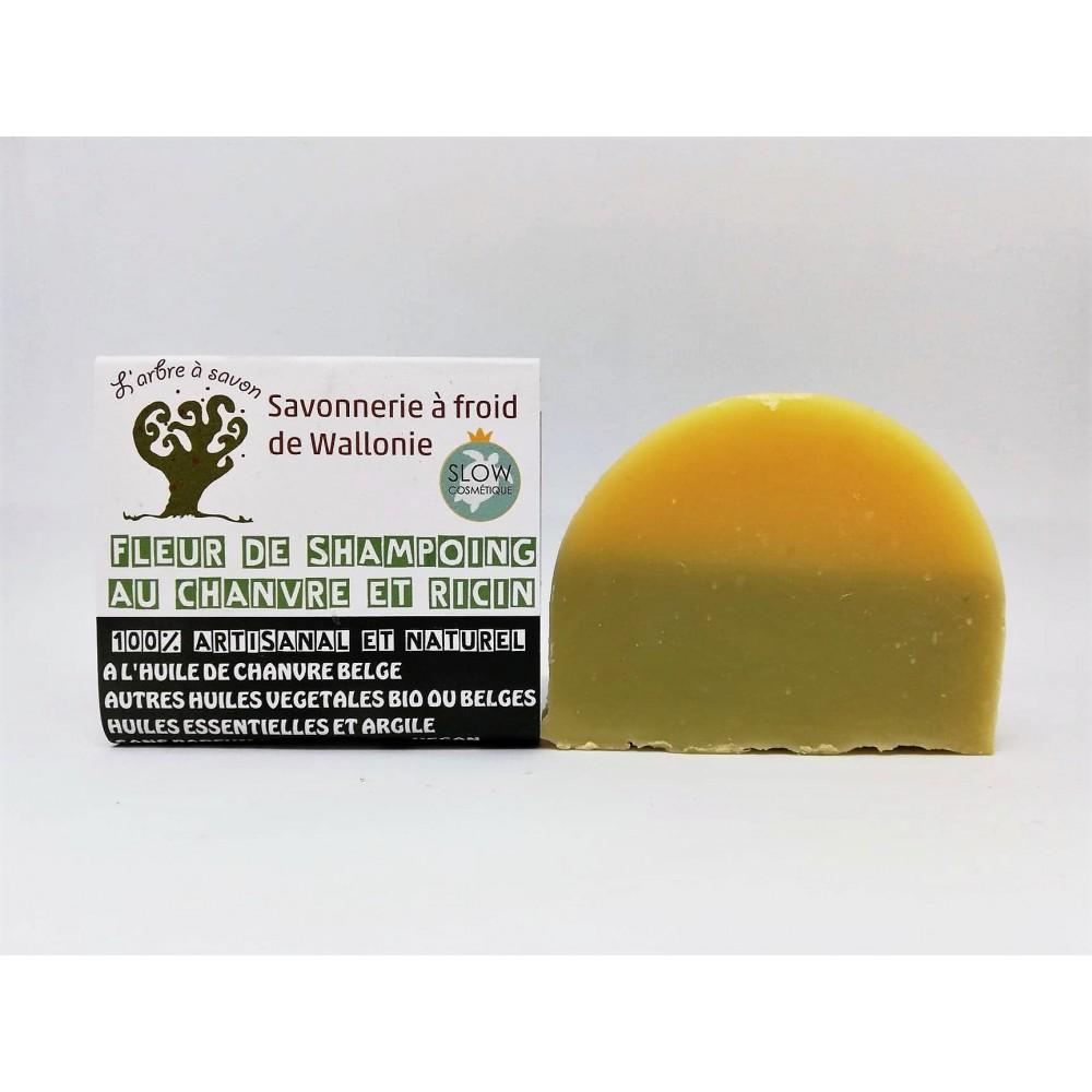 Fleur de shampoing au chanvre et ricin 100 g (l'Arbre à savon)