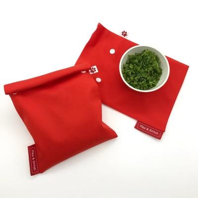 Hersluitbaar diepvrieszak lime green (Flax & Stitch)
