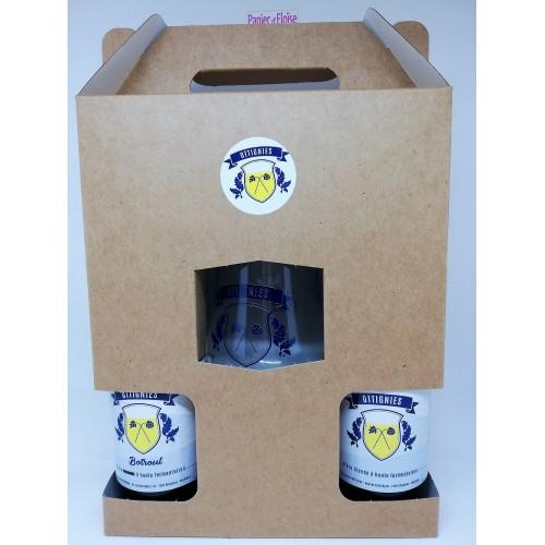 Koffer 2 bieren Ottignies 33 cl + 1 glas