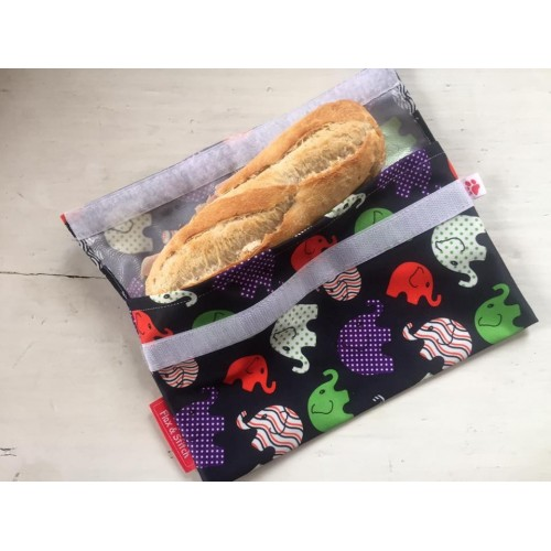 Herbruikbare zakje voor stokbroodje  (Flax & Stitch)
