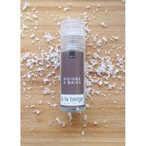 Fleur de sel poivre 5 baies 30 g (A la belge)