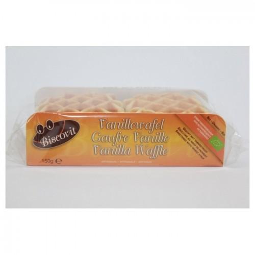 Gaufres vanille au sucre de canne bio 150 g (Biscovit)