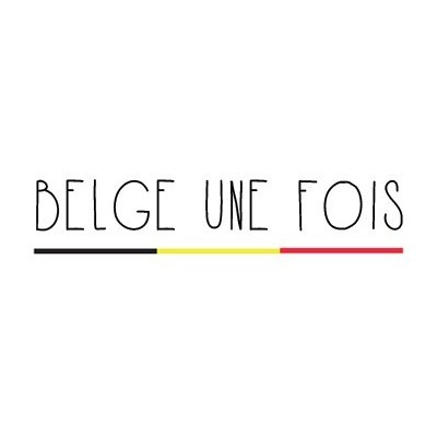 Tote bag belge une fois - wit