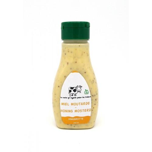 Vinaigrette honing & mosterd bio 190 ml (La vache qui regarde passer les trains)